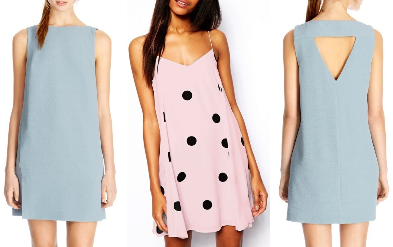 e1d0f46ed751 pale-blue-dress-with-cut-out-back-and-pale-pink-polka-dot-dress ...